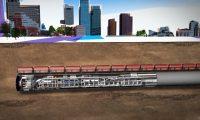地铁地下隧道:城市建设施工动画