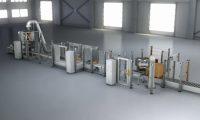 现代化数控厂房工业机械动画