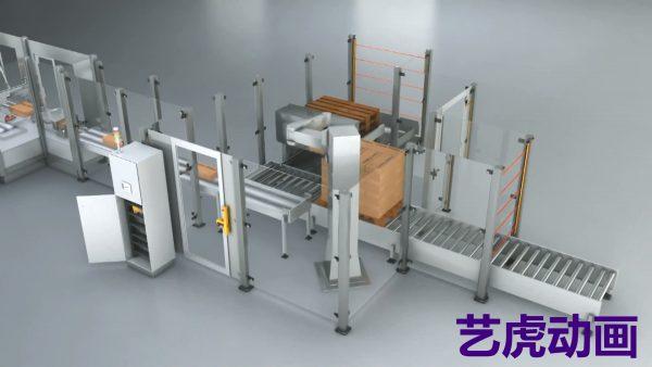 工业施工演示三维动画