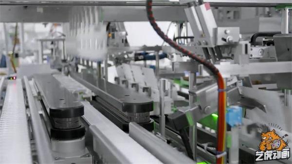智能化无人工厂机械动画